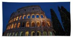 Roman Coliseum In The Evening  Beach Sheet