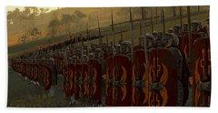 Roman Legion In Battle - Ancient Warfare Beach Towel