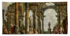 Roman Ruin Architecture With Predigendem St. Paul Beach Towel