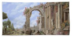 Roman Ruins Beach Towel