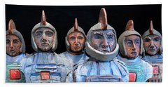 Roman Warriors - Bust Sculpture - Roemer - Romeinen - Antichi Romani - Romains - Romarere Beach Towel