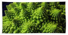 Romanesco Broccoli Beach Sheet by Garry Gay