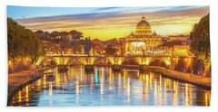 Rome At Twilight Beach Towel