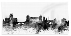 Rome Italy Skyline 4x5 Ratio Beach Towel