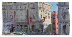 Rome Piazza Republica Beach Towel