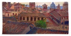Rome Seen From Campidoglio Beach Towel