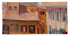 Rome Seen From Piazza Di Spagna Beach Towel