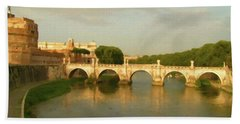 Rome The Eternal City And Tiber River Beach Sheet