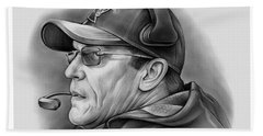 Ron Rivera Beach Towel by Greg Joens