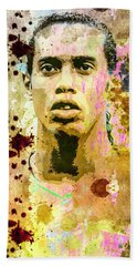 Ronaldinho Gaucho Beach Sheet by Svelby Art