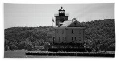 Rondout Lighthouse In Spring #1 Beach Sheet by Jeff Severson