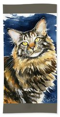 Ronja - Maine Coon Cat Painting Beach Towel