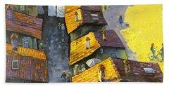 Rooftops Beach Sheet by Mikhail Zarovny