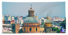 Beach Towel featuring the photograph Rooftops Of Seville - 1 by Mary Machare