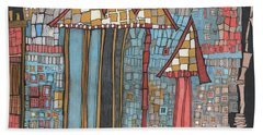 Dilapidated World Beach Towel by Sandra Church