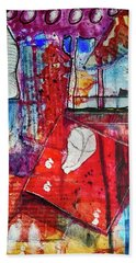 Beach Towel featuring the mixed media Room With A View by Mimulux patricia No