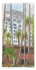 Roosevelt Hotel In Hollywood Blvd., Hollywood, California Beach Towel