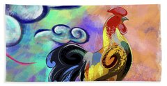 Rooster At The Outpost Beach Towel