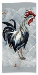 Beach Sheet featuring the painting Rooster - Classic Country by Janine Riley