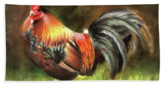 Rooster Dance Beach Towel