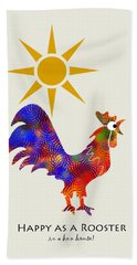 Rooster Pattern Art Beach Towel