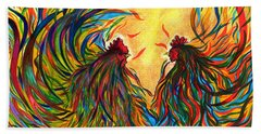 Roosters Frienship Beach Sheet