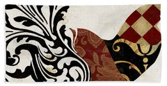 Roosters Of Paris II Beach Towel