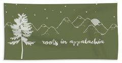 Roots In Appalachia Beach Towel by Heather Applegate