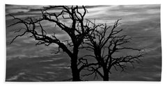 Roots In Black And White Beach Sheet