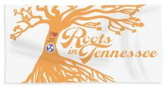 Beach Towel featuring the photograph Roots In Tn Orange by Heather Applegate