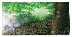 Roots On The River Beach Towel by Rachel Hannah