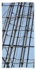 Beach Towel featuring the photograph Rope Ladder by Dale Kincaid