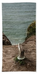 Rope Ladder To The Sea Beach Sheet by Odd Jeppesen