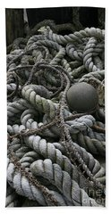 Ropes And Lines Beach Towel