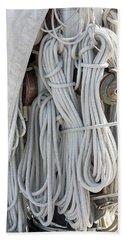 Ropes Of A Sailboat Beach Towel