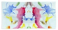 Rorschach Test Card No. 10 Beach Towel