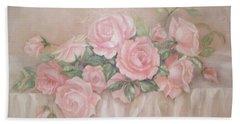 Rose Abundance Painting Beach Towel