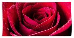 Rose After The Rain Beach Sheet
