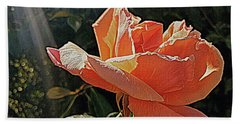 Rose And Rays Beach Towel