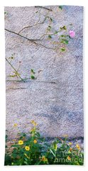 Beach Towel featuring the photograph Rose And Yellow Flowers by Silvia Ganora