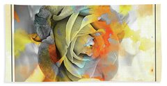 Beach Towel featuring the photograph Rose Bud by Athala Carole Bruckner