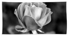 Rose - Bw Beach Towel