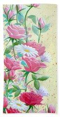 Rose Diptych 1 Beach Sheet