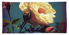 Rose Facing The Sun Beach Sheet by Susan Lafleur