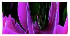 Beach Towel featuring the digital art Rose Forest Path by Aliceann Carlton