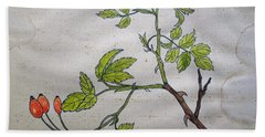 Rose Hip Beach Towel