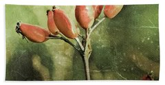 Rose Hips Beach Towel