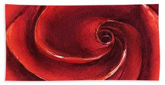 Rose In Stone Beach Towel