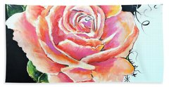 Beach Towel featuring the painting Rose by Jodie Marie Anne Richardson Traugott          aka jm-ART