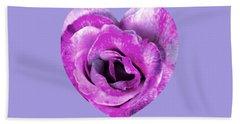 Rose Nepenthe Heart Beach Towel